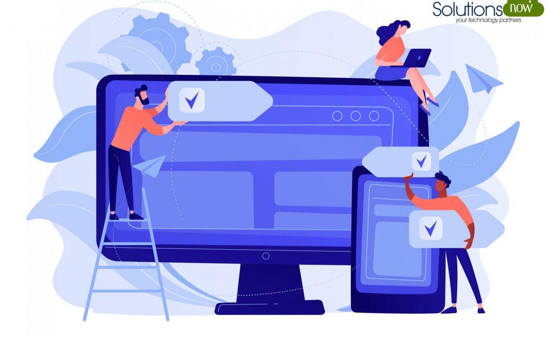 Cross-platform software concept vector illustration.