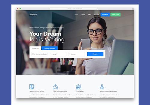 Job Portal Website Development for Int'l Talent