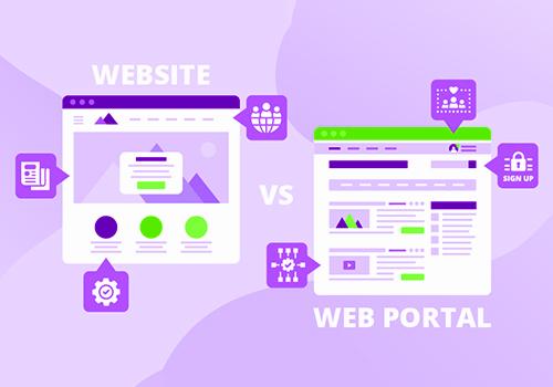 Website vs Web Portal Development